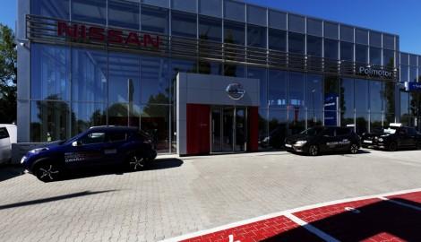 Realizacja hala serwisowa, salon pojazdów Nissan